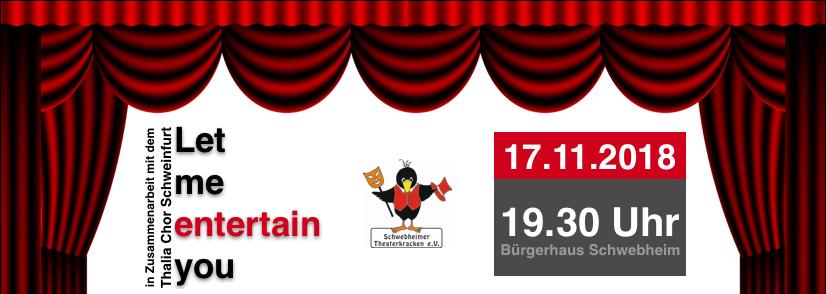 """Let me entertain you"" am 17.11.2018 – Thalia Chor meets Theaterkracken"